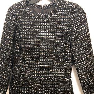 J. Crew tweed black and white dress